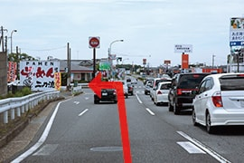 さくら都市 袖ケ浦支店 交通案内(袖ケ浦駅より)3.1つ目の信号、神納交差点を左折