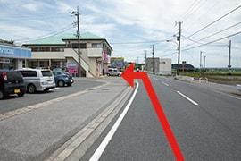 >さくら都市 袖ケ浦支店 交通案内(袖ケ浦ICより)3.約300m先、左手にさくら都市 袖ケ浦支店です